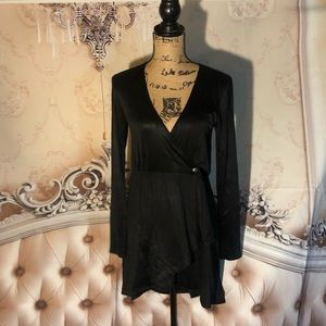 Kardashians Bebe Mini Fold Over Dress